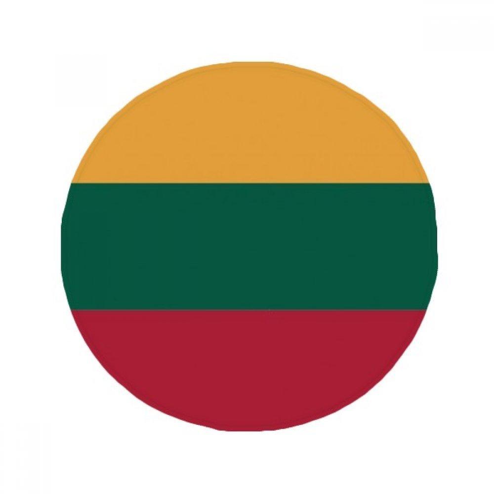 60X60cm DIYthinker Lithuania National Flag Europe Country Anti-Slip Floor Pet Mat Round Bathroom Living Room Kitchen Door 60 50Cm Gift