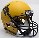 NCAA West Virginia Mountaineers Matte Gold Replica Helmet, One Size, White