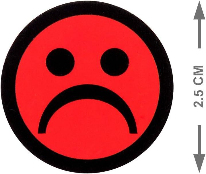Emoji Magneti Smiley 5 Pezzi Rosso, 2,5 cm