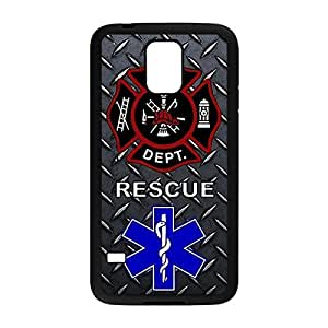 Special & Simple Design Firefighter Medical Rescue Hard Plastic Case Cover for Samsung Galaxy S5 with Image 022302 Kimberly Kurzendoerfer