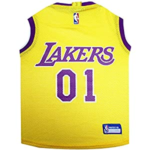NBA LOS ANGELES LAKERS DOG Jersey, Small - Tank Top Basketball Pet Jersey