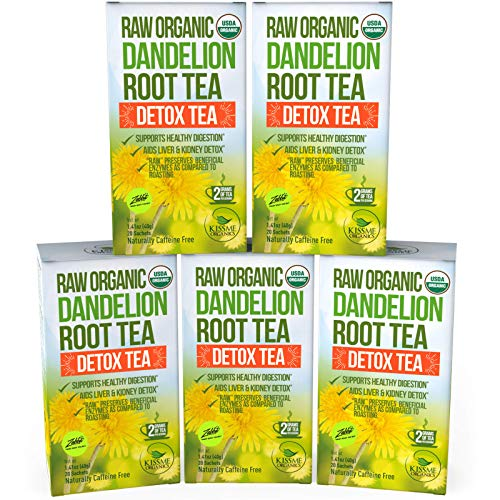 Dandelion Root Tea Detox Tea - Raw Organic Vitamin Rich Digestive - Helps Improve Digestion and Immune System - Anti-inflammatory and Antioxidant