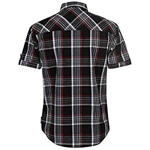 Lee Cooper Mens S/S Checked Shirt – Black/White/Red