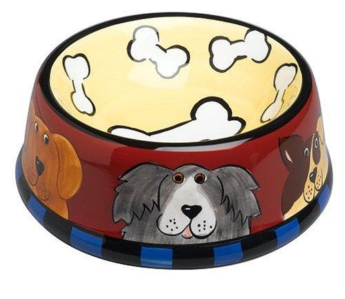 UPC 717747005105, Henriksen Imports Candace Reiter Dogzilla Pet Dish, Yellow