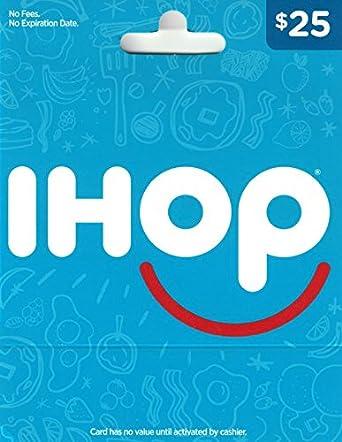 Amazon.com: Tarjeta de regalo IHOP: Tarjetas de regalo