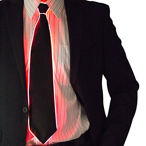 Light Up Neck Tie by Neon Nightlife | Men's Fiber Optic Novelty Lighted