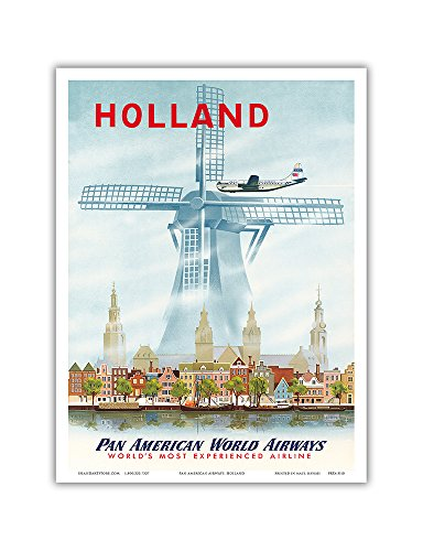 holland-netherlands-dutch-windmill-pan-american-world-airways-paa-vintage-airline-travel-poster-1951