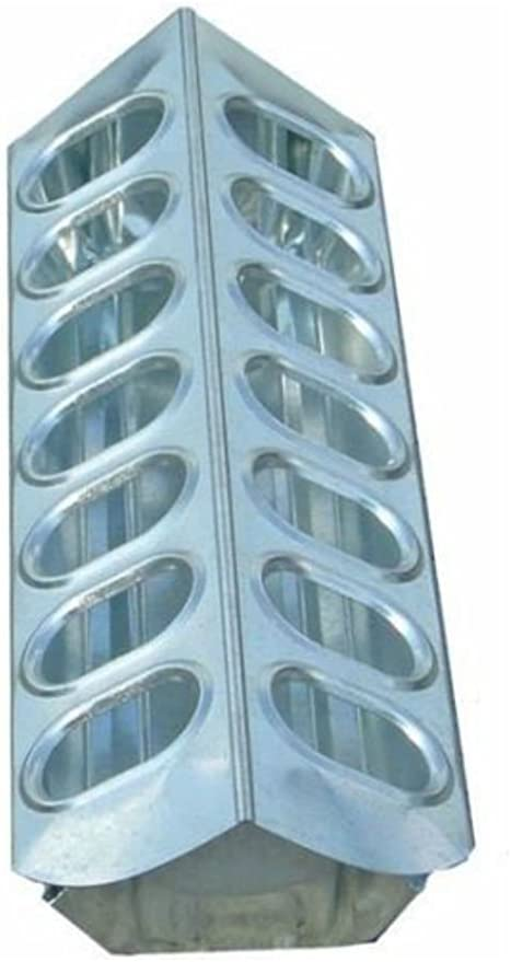 """12/"""" Galvanized Slide Top Poultry Chicken Feeder Used Stock"""