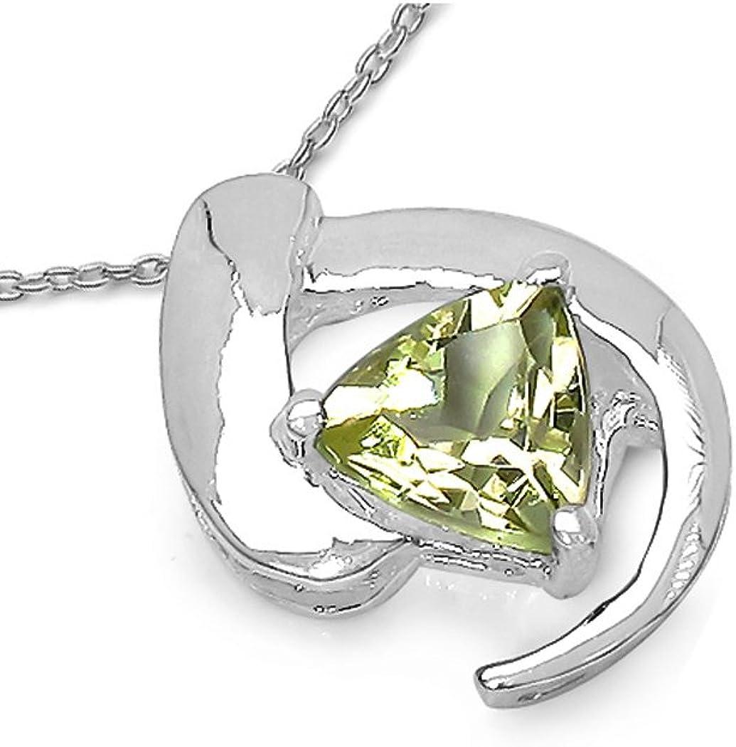 Silvanc/é Collier pour femme en argent 925 rhodi/é avec pierres pr/écieuses v/éritables au choix