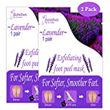 Dr. Entre's Exfoliating Foot Peel Mask | 2 Lavender Pairs | Natural Exfoliant For Smooth Baby Soft Feet, Dry Dead Skin Treatment, Repair Rough Heels, Callus Remover Sock Booties
