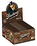 6 Smoking Brand Unbleached Brown King Size Cigarette Rolling Papers Packs (33 Leaves/Pack) + Beamer Smoke Sticker. For Legal Smoking Herbs, Rolling Tobacco, Herbal Mixes, Rollers, Injectors, RYO, MYO