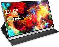 モバイルモニター モバイルディスプレイcocopar 12.5インチ スイッチ用モニター 非光沢IPSパネル 薄い 軽量 1920x1080FHD HDRモード/FreeSync対応/ブルーライト機能 USB Tpye-C/mini...