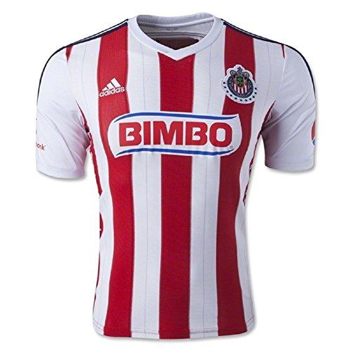 保持欠陥本気Adidas Chivas de Guadalajara Home Jersey 14-15/サッカーユニフォーム チーバス?グアダラハラ ホーム用 背番号なし 2014-15