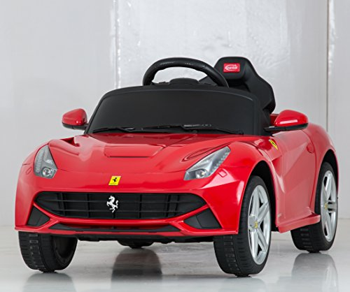 amazoncom vroom rider ferrari f12 rastar 6v battery operatedremote controlled ride on red toys games