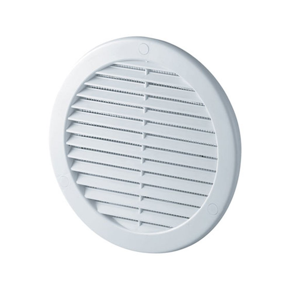 Circle Air Vent Grille Cover 125mm Ducting White ABS Plastic Access Panels UK