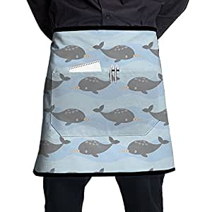 Cute Narwhal Lovely Waist Aprons Half Apron Women