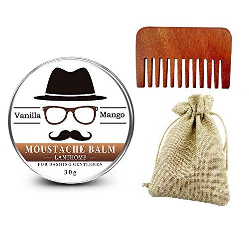 BaiMoon Hair Growth Gromming Set Natural Beard Oil+beard balm Organic Beard Conditioner Shaping Comb Dropshipping