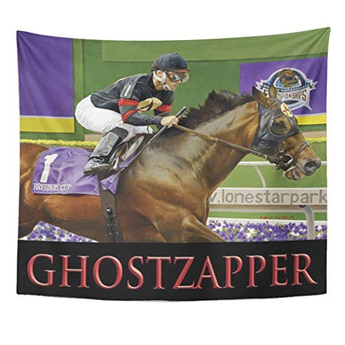 (Semtomn Tapestry Artwork Wall Hanging Thoroughbred Gh041104 Race Horse 50x60 Inches Tapestries Mattress Tablecloth Curtain Home Decor Print)