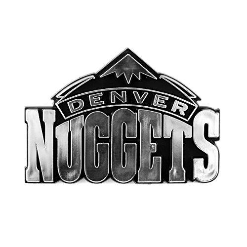 NBA Denver Nuggets Chrome Emblem, One Size, One Color