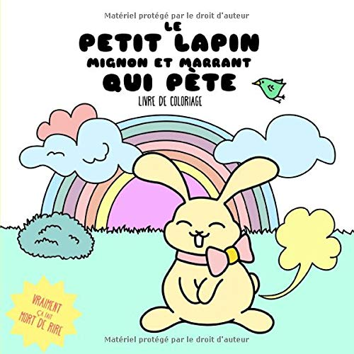 Kawaii Coloriage Livre.Le Petit Lapin Mignon Et Marrant Qui Pete Livre De