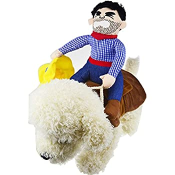 olizee pet dog halloween cowboy funny costume dog riders clothesxl