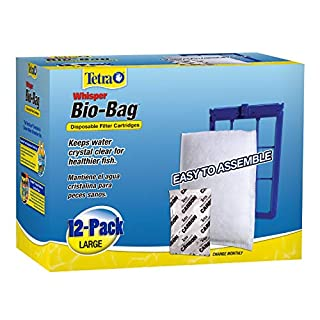 Tetra Whisper Bio-Bag Disposable Filter Cartridges 12 Count, For aquariums, Large, Unassembled