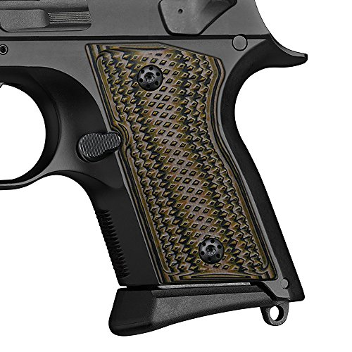 - Cool Hand G10 Grips for CZ 2075 RAMI, Checker Diamond Cut, Brand, Coyote Color