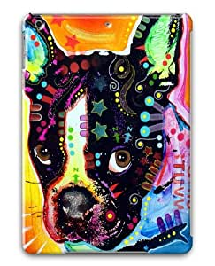 french bulldog Polycarbonate Hard Case Cover for Apple iPad 5/iPad Air 3D