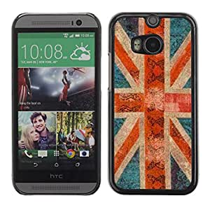 PC/Aluminum Funda Carcasa protectora para HTC One M8 England great Britain rustic gb London / JUSTGO PHONE PROTECTOR