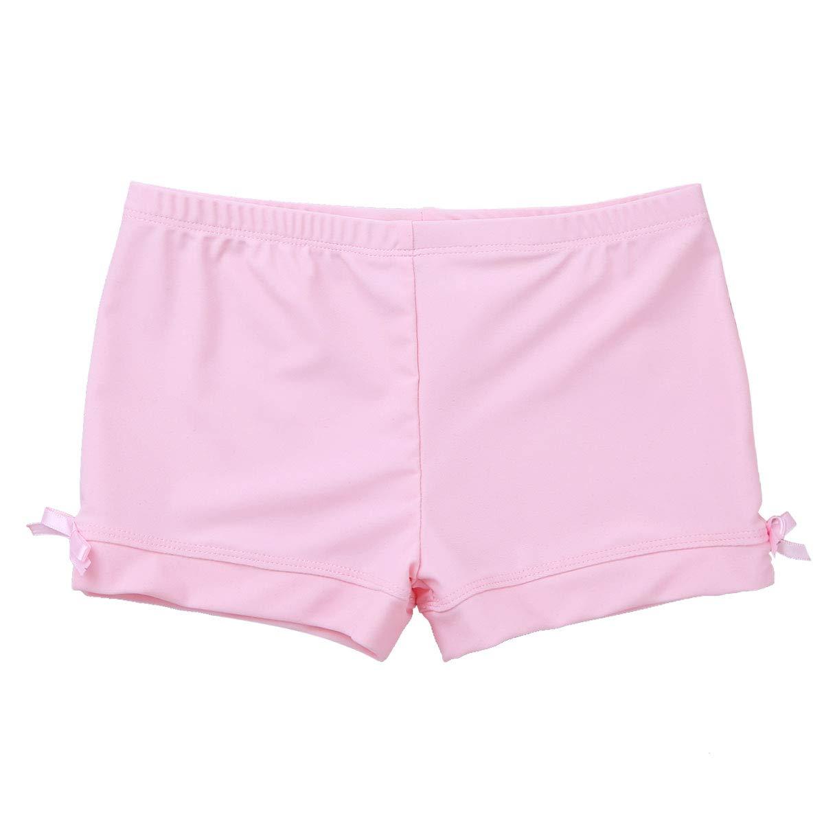 Agoky Kids Girls Gymnastics Workout Yoga Athletic Sports Training Bike Short Pink Boy-Cut 3