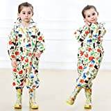 Toddler Rain Suit with Hood Kids Waterproof