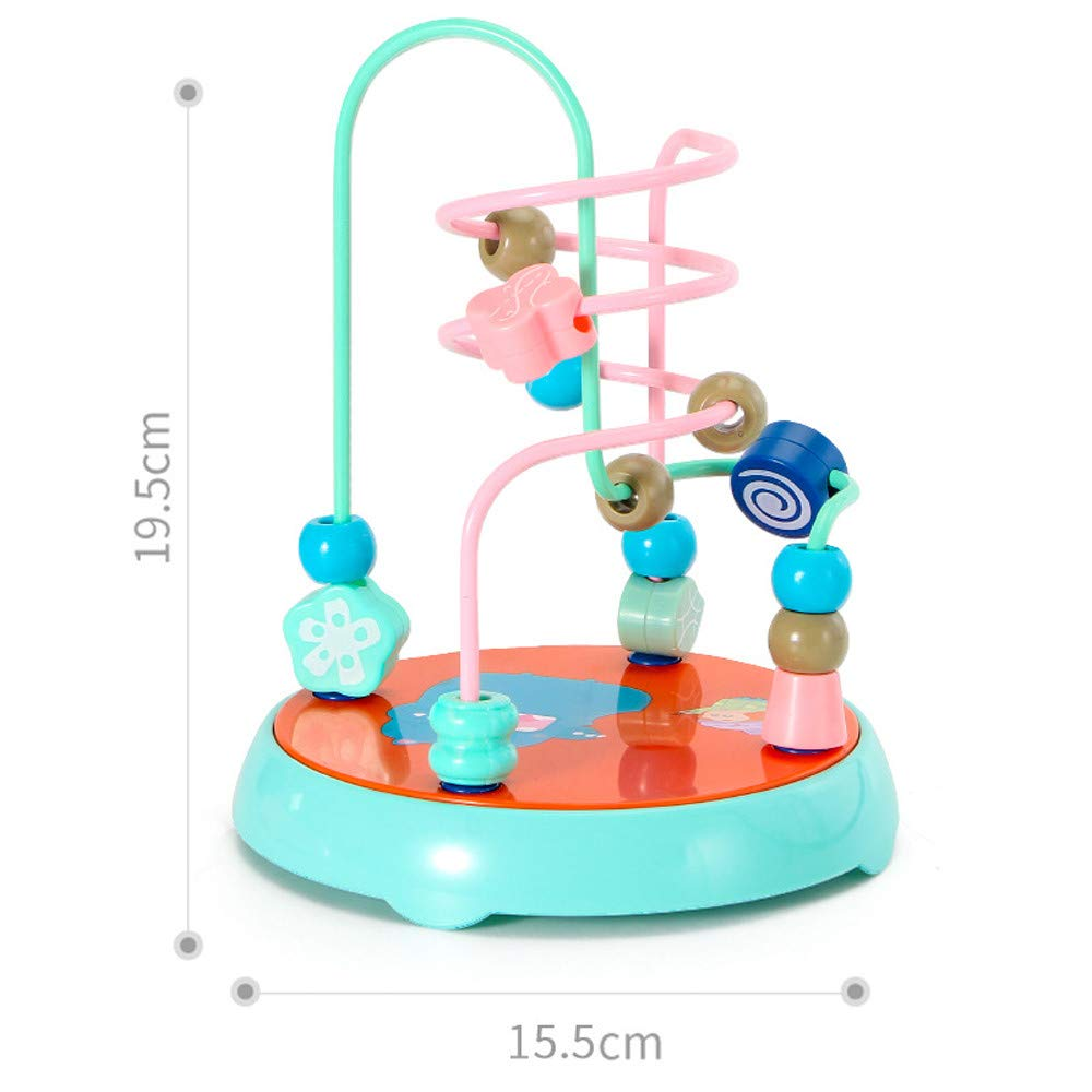 New Children Beads Maze Roller Coaster Educational Toys Mini Around Beads Educational Game Toy Green Dingji Educational Game Toy