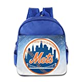 BADOU Baseball New York Kid Bookbag Backpack Outdoor RoyalBlue