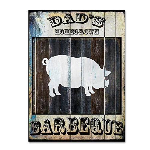 Dads BBQ 2 by LightBoxJournal, 35x47- Canvas Wall Art