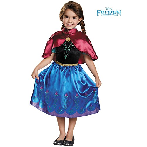 Anna Traveling Toddler Classic Costume, Small (Frozen Elsa And Anna Costume)