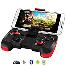 BEBONCOOL Wireless Bluetooth Game Controller with Clip for Android Phone/Tablet/TV Box/Samsung Gear VR/Emulator(Red)