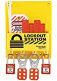 Master Lock S1720E410 Circuit Breaker Lockout Center With 410RED Zenex Padlock