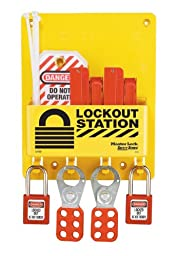 Master Lock S1720E410 Circuit Breaker Lockout Center With 410RED Zenex Padlock