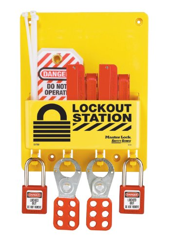 Master Lock Lockout Tagout Station, Compact Lockout Center, S1720E410 ()