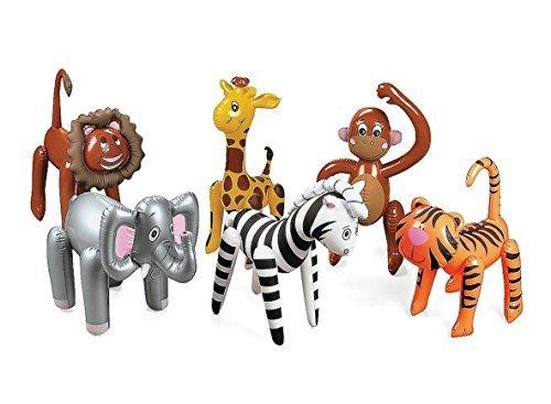 6 Assorted Inflatable Safari Zoo -