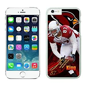 NFL iPhone 6 Plus 5.5 Inches Case Arizona Cardinals Jeff King White iPhone 6 Plus Cell Phone Case ONXTWKHB0060