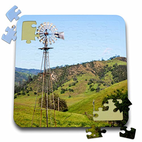 Countryside Windmill (Danita Delimont - Agriculture - California, old windmill in the countryside. - 10x10 Inch Puzzle (pzl_278485_2))