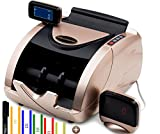 Money Counter Machine - Bill Counter Machine - Portable Money Machine Counter - 150 Straps & Counterfeit Detector Pen - Money Counting Machine for Mixed Bills - Currency Counter - Dollar Cash Counter