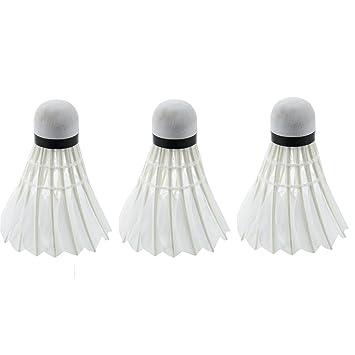 Blau 1 Satz von 3 Stuecken Dunkle Nacht Badminton mit LED Licht Beleuchtung