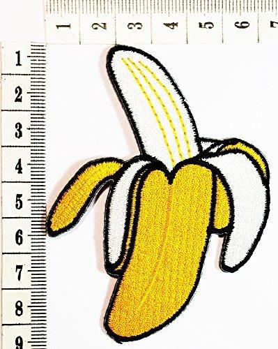 banana Fruit Logo Cartoon Children Kids Embroidered Iron patch / Sew On Patch Clothes Bag T-Shirt Jeans Biker Badge Applique
