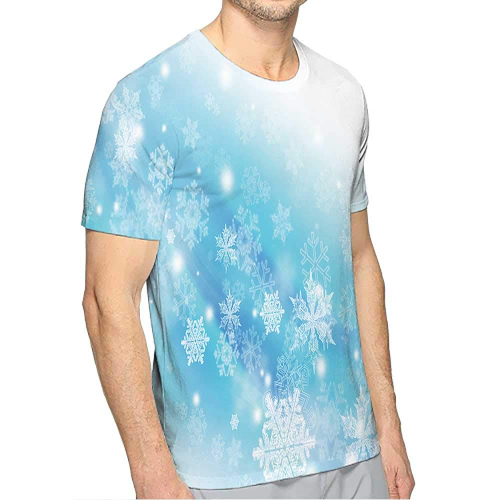 PRUNUS T-Shirts for Men Big and Tall Fashion Mens 3D Top Tees