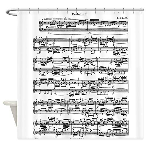 CafePress Sheet Music by Bach Decorative Fabric Shower Curtain (69