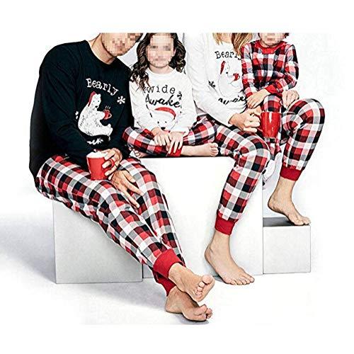 Papa Mama Kids Baby Bearly Awake Christmas Matching