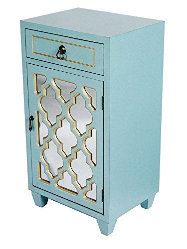 Heather Ann Creations Standing Single Drawer Distressed Storage Cabinet, 30