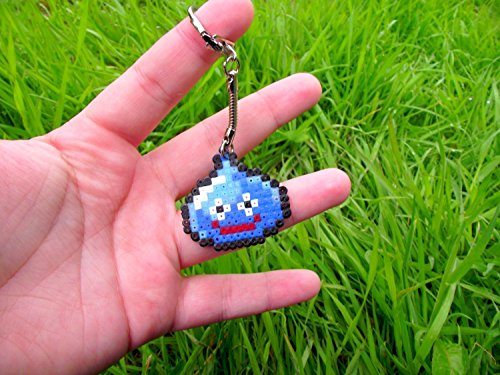 keychain of Slime from Dragon Quest ( Square Enix ) • Hama Beads • Pixel/art